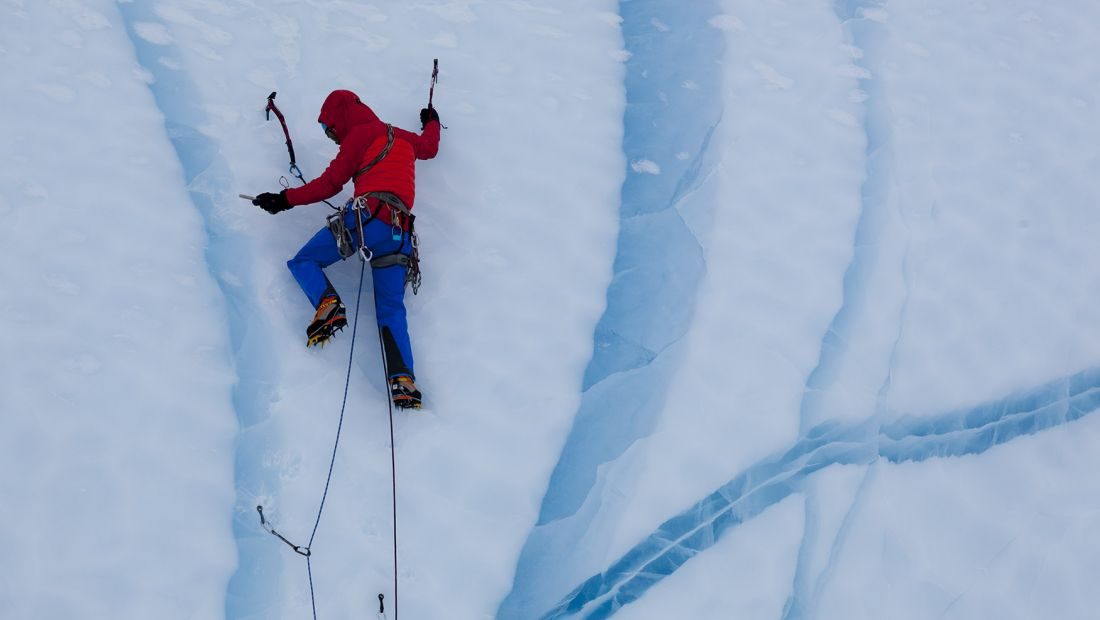 Leo Houlding Ice Climbing